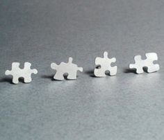 Puzzle Studs by Huiyi Tan Designer Jewellery #wearabledesign #jewelrydesign