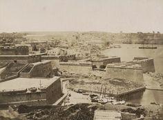 Castille Fortifications Malta showing Fort Salvator 1870s