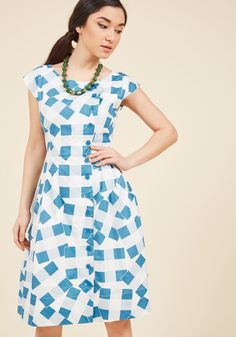 7ed0436812 Fasten-ated by You Midi Dress in Patchwork Plaid. Off-center buttons and