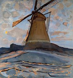 Piet Mondrian (Dutch, 1872-1944), Windmill, 1917. Oil on canvas. Dallas Museum of Art, Dallas, Texas.
