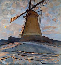 Piet Mondrian (Dutch, 1872-1944), Windmill, 1917. Oil on canvas. Dallas Museum of Art, Dallas, Texas.