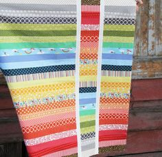 I adore this quilt.  I'm thinking about making one like this for one of my boys.