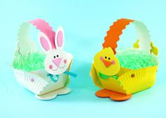 CarefreeCrafts.com Easter Bunny or Chick Basket