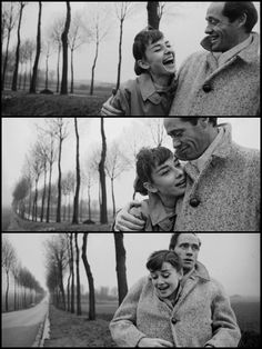 Audrey Hepburn and husband Mel Ferrer pose for pictures during a roadside excursion somewhere in France, Photo by Michael Ochs. Couple Photography, White Photography, Robert Mapplethorpe, Richard Avedon, Hopeless Romantic, Vintage Love, Old Hollywood, Cute Couples, Vintage Couples