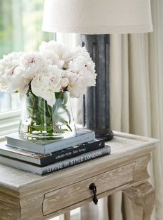 Side Table Decor Ideas. How decorate side table or bedroom nightstand. Interior Design by Beth Webb Interiors.: