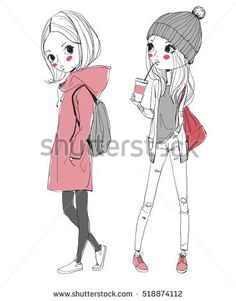 Find Fashion Illustration Girls stock images in HD and millions of other royalty-free stock photos, illustrations and vectors in the Shutterstock collection. Thousands of new, high-quality pictures added every day. Cute Girl Illustration, Fashion Illustration Sketches, People Illustration, Fashion Sketches, Girl Drawing Sketches, Girl Sketch, Beautiful Drawings, Cute Drawings, Watermelon Girl