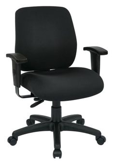 Black Deluxe Task Chair w/Ratchet Back Height