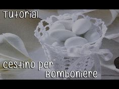 Tutorial bomboniere Cestino Uncinetto (Crochet) 1/5 - YouTube Tissue Box Covers, Tissue Boxes, Crochet Videos, New Years Eve Party, Baby Shower Favors, Knitting Needles, Easy Crochet, Doilies, Wedding Favors