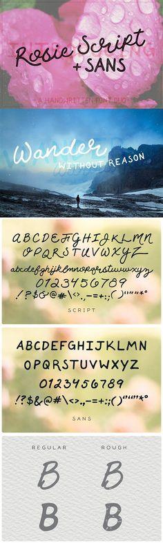 Rosie Script. Script Fonts. $16.00
