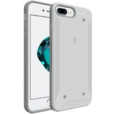 iPhone 7 Plus Case, Poetic QuarterBack [Corner/Bumper Protection][Replaceable back][No Bulk][Dual Protection]- Stylish PC+TPU Protective Case for Apple iPhone 7 Plus (2016) White/Gray. Made of Strong polycarbonate back shell with premium TPU inner shell. Stylish Tech styling with the new Poetic Design DNA. Tactile grip feature with micro grips for stronger grip position. Raised back X shape protects any point impact along with the inner TPU case protecting against shock. Uniquely designed...