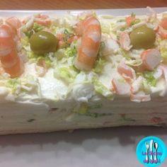 Pastel fresco de atún y cangrejo, rico y fresco pastel de atún y cangrejo, ideal para comer como entrante un dia de verano.