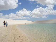Beautiful white sand dunes in Brazil. There are many Sand Dunes along the Atlantic coast.
