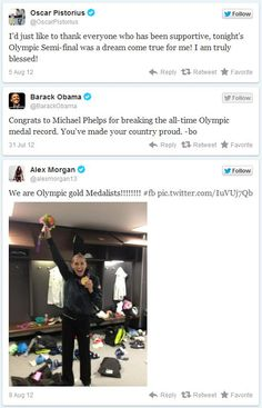 The Olympics are over and the results are in! #SocialMedia #Olympics #London2012