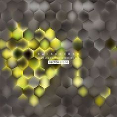 Yellow Gray Hexagon Background Template #freevectors