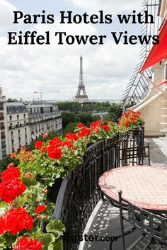 "Whether you're on your first trip to Paris or your 50th, catching a glimpse of ""La Tour Eiffel"" will likely make your heart skip a beat.  Looking for a luxurious hotel to see the Eiffel Tower sparkle from your bed at night? We've got you covered. Think finding a room with the coveted view is out of reach? Think again. Herewith, our top picks for stays at every price point."