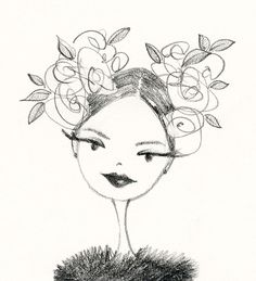 ©anne keenan higgins / winter rose sketch