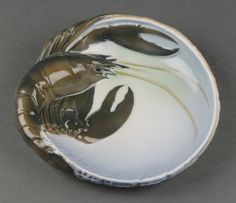 "Lot 84, A Royal Copenhagen porcelain dish decorated a lobster EM3498 6 1/2"", Est £30-50"