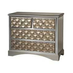 Savona 3-drawer Gold Finish Mirrored Accent Chest | Overstock.com Shopping - Great Deals on Coffee, Sofa & End Tables