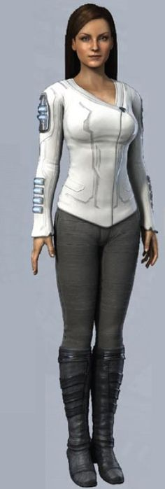 Serena, the AI from Halo Wars.   A possible cosplay.  :)
