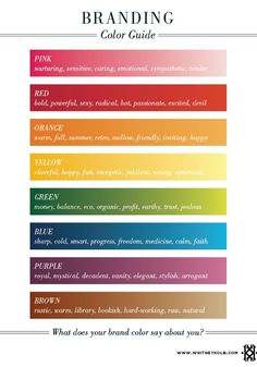 I love this stuff when it comes to creating your brand's soul. Pick your colors wisely. :)