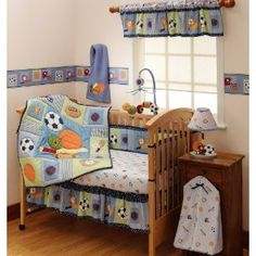 Bedtime Originals Super Sports 4-Piece Baby Crib Bedding Set - Blue