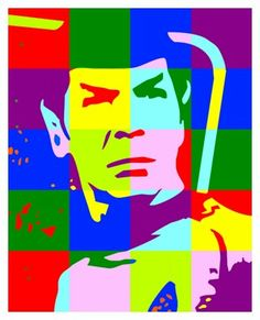 Spock pop culture art