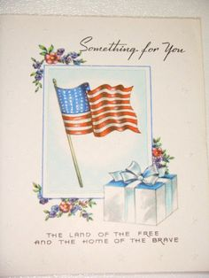 Vintage Greeting Card  4th of July
