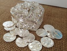 Arras de boda plata plateado / arras para boda / unidad monedas / arras de boda plateadas