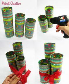 Velas Navideñas con Tubos de Papel Christmas, How To Make Crafts, Diy Home, Bunny Rabbit, Candle Arrangements, Toilet Paper Tubes, Toilet Paper Rolls, Christmas Crafts, Yule