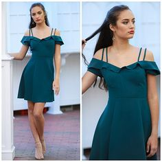 b5f94d5d63 Fun Fit   Flare Teal Dress From Cousin Couture.