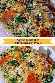 Iranian Cuisine, Iranian Food, Saffron Rice, Indian Food Recipes, Ethnic Recipes, Eastern Cuisine, Cooking Recipes, Healthy Recipes, Middle Eastern Recipes