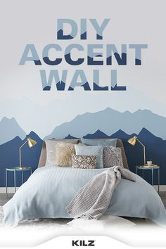 It's as easy as 1-2-3. Don't forget to prime the walls with KILZ 2® All-Purpose primer prior to painting to ensure the colors chosen really pop! Find the complete instructions on our blog. Teen Bedroom, Home Bedroom, Bedroom Decor, Bedrooms, Dream Rooms, New Room, Home Projects, Home Remodeling, Don't Forget
