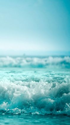 Turquoise Waves by the sea. Sea And Ocean, Ocean Beach, Ocean Waves, Beautiful World, Beautiful Places, Beautiful Pictures, Iphone 5 Wallpaper, Ocean Wallpaper, Jolie Photo