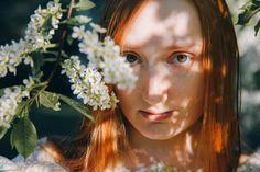 redhead in light