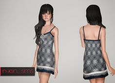 V Neck Lace Overlay Dress by NYGirl - Sims 3 Downloads CC Caboodle