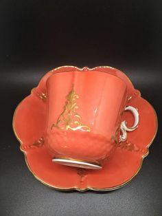 Aynsley orange vintage tea cup very good vintage condition, no chip or crack