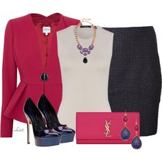 """Tweed Skirt"" by christa72 on Polyvore"