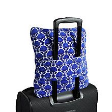34 Gift Ideas for People Who Travel Our supersoft fleece is now easier than ever to travel with! A generously-sized blanket folds down into a travel pillow. It includes a trolley sleeve for easy transport through the airport.