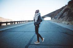 Jacket - Trouvé via Nordstrom | Shirt - Enza Costa via ShopBop | Jeans - Rag & Bone via Nordstrom | Shoes - Nike Air Max Thea Mid | Beanie - The North Face via Nordstrom | Sunnies -  Karen Walker 'Number One' via ShopBop | Scarf - Aporta Shop