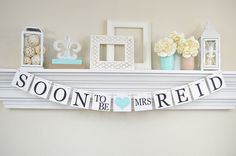 Personalized Bridal Shower, Soon To Be Mrs Banner, Bridal Shower Banner, Soon To Be Mrs, Bachelorette Party, Sky Blue Bridal Decor, B200