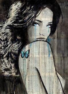 """Saatchi Art Artist LOUI JOVER; Drawing, """"blue siren butterfly"""" #art"""