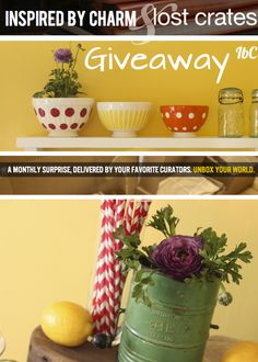 I'm having a little giveaway on my blog today. Enter to win the Inspired by Charm Crate from Lost Crates. Good Luck!!     http://www.inspiredbycharm.com/2012/09/inspired-by-charm-lost-crates-giveaway.html
