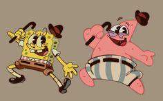 Old pals by chapalapachalaLMAO on DeviantArt Spongebob Squarepants Tv Show, Spongebob Logic, Spongebob Anime, Spongebob Drawings, Spongebob Patrick, Doodle Characters, Cute Cartoon Characters, Cartoon Gifs, Cartoon Movies