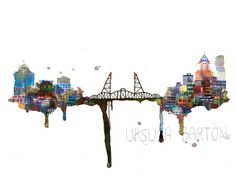 1st Edition 13'' x 19'' Archival Cityscape Prints by ursulabarton