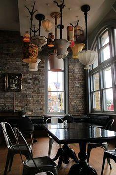 How To Brighten Your Home With Ceiling Lights – diy Interior design Deco Restaurant, Restaurant Design, Restaurant Lighting, Restaurant Names, Industrial Restaurant, Restaurant Ideas, Cafe Design, House Design, Diy Interior