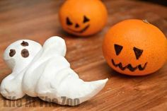 Meringue Ghosts (gluten free). Super easy. I usually add 1/2 tsp cream tartar to help stabilise the meringue and couple drops of essence; peppermint or vanilla for fun