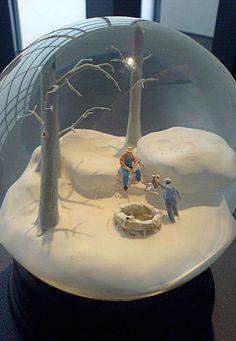 Snow globe by Martin & Munoz at the Art 2006 exhibition, Museum of Contemporary Art Kiasma, Helsinki Fall Art Projects, Toddler Art Projects, Dorm Canvas Art, Pop Art Drawing, Disney Concept Art, Art Inspiration Drawing, Art Deco Posters, Art Nouveau Design, Museum Of Contemporary Art