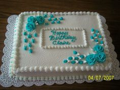 - 11  x  15 sheet cake, torted with strawberry buttercreme, frosted with buttercream