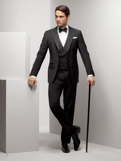 Phineas Cole with vest (also called waistcoat) #tux #tuxedo #menswear