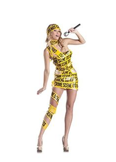 Is it a crime to look this pop hot? You're the show, sweetheart, in the Sexy Crime Scene Pop Star Dress Costume. Original Halloween Costumes, Clever Halloween Costumes, Adult Halloween, Halloween Ideas, Halloween Party, Star Fancy Dress, Funny Fancy Dress, Lady Gaga Outfits, Lady Gaga Costume